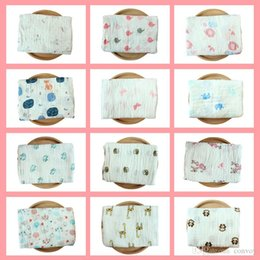 Wholesale color conditioners - 52 Styles Swaddling Cotton Blanket Newborn Infant Conditioner Blanket Baby Swaddles Bath Towel Printed Newborns Muslin Blankets BHB22