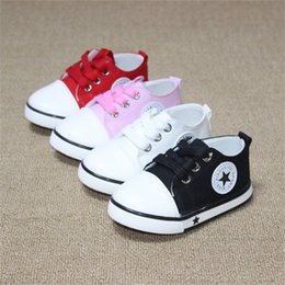 Wholesale White Baby Canvas Shoes - New Spring Canvas Children Shoes Baby Breathable Sport Shoe Boys And Girls Not Smelly Feet Soft Chaussure Kids Sneakers