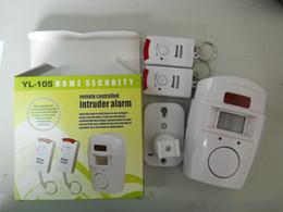 Sistemi di sicurezza a infrarossi wireless online-Home Security PIR MP Alert Sensore a infrarossi Rilevatore di movimento antifurto Monitor allarme Sistema di allarme wireless + 2 telecomando