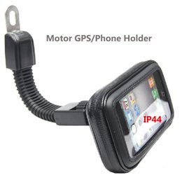 mobile phone motorcycle stand holder Promo Codes - Motor Mobile Phone Case Holder 360 Rotating Stand Motorcycle Rear View Mirror Holder for Car GPS iPhoneX 7 7S 8 Plus Samsung