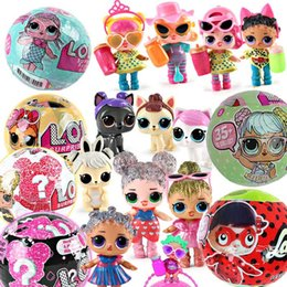 Wholesale baby girls toys - 10CM LOL Dolls Functional Spray Water Dress Up Baby Ball Dolls Horse Animals Action Figures Toys Animal Girl Birthday Christmas Gift
