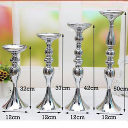 Candelabra Romantic Flower Standing Centerpiece Candlestick Silver Plated Candle Holder Road Lead Wedding Decoration  sc 1 st  DHgate.com & Shop Silver Plated Candlestick Holders UK | Silver Plated ...