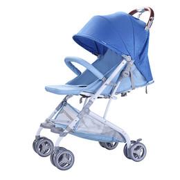 2019 luci buggy Super Portatile Carrello per bambini Confortevole per bambini Carrello pieghevole Ombrello per bambini Carrello 102 * 62 * 50cm Passeggino Neonato Luce Buggy sconti luci buggy