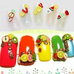 2019 3d fruchtaufkleber 2018 Big Sale 1000 PCS Nail Art 3D Fruit Feder Blumen Mix Projekte DIY Nagel Schönheit Dekorationen Aufkleber Herz Blume Form