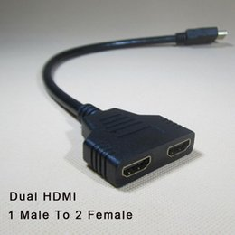 Argentina Nueva llegada HDMI cable divisor 1 macho a doble HDMI 2 hembra Adaptador divisor Y en HDMI HD LED LCD TV 30cm Suministro