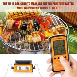 Control remoto inalámbrico Dual Probe Digital Cooking Meat Food Horno Termómetro para asar a la parilla Smoker BBQ de alta calidad desde fabricantes