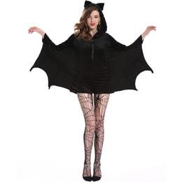 2018 Mulheres Halloween Vampiro Bat Cosplay Trajes Fêmeas Hoodies Batman Macacão Partido Extravagante Com Capuz Macacão para Adultos M-4XL supplier fancy batman de Fornecedores de batman fantasia