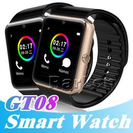 телефон для сообщений Скидка Смарт-часы iwatch GT08 Bluetooth подключение для IOS Apple iPhone Android телефон Smart Electronics с SIM-карты слот нажмите сообщения