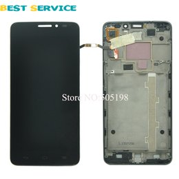 Wholesale One X Screen Lcd - FOR Alcatel One Touch Idol X OT6040 6040 6040D 6040E OT-6040D LCD Screen Display + Touch Screen Digitizer Assemblely with Frame