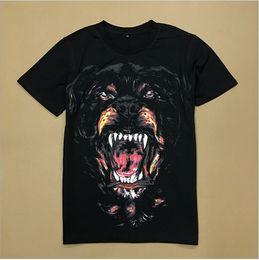 hund shirt frau Rabatt Neuer Art und Weise Rottweiler Hundedruck Qualitäts-Oansatz schwarze T-Stück T-Shirts für Mannfrauenbaumwolle geben Verschiffen frei