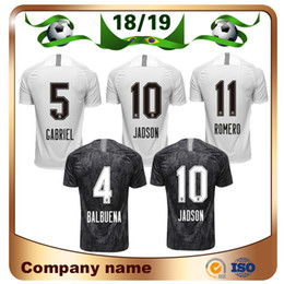 Wholesale brazil football uniform - 2019 Corinthian Paulista Soccer Jersey 18 19 Home Black 10 JADSON Soccer shirt PABLO BALBUENA ROMERO Brazil Custom football uniform