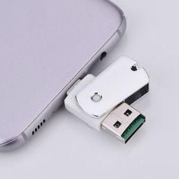 Leitor de celulares on-line-Alta velocidade otg tf / leitor de cartão de memória micro sd multifunções 2 em 1 tipo-c para usb 2.0 interface para celular, computador, tablet