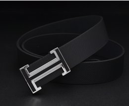 Wholesale jeans 31 38 man - Hot black and white H designer luxury brand leather belt for men leather men's casual jeans vintage fashion high quality belt waist.888