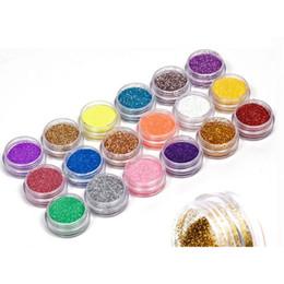 18 colori nail art glitter polvere kit di decorazione della polvere per punte acriliche gel UV fai da te drop shipping all'ingrosso glitter per unghie nuovo da