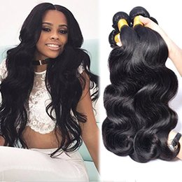 Wholesale Peruvian Big Waves Extensions - Big Sale 7A Brazilian Indian Peruvian Malaysian Unprocessed 100% Human Hair Extension Weave Body Wave 4pcs lot Christina Hair Products Free