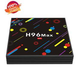 Wholesale Wifi Hd Satellite Receivers - h96 max android satellite tv receiver box RK3328 Android 7.1 4G 32G KD Player 17.3 2.4G 5G dual WIFI USB 3.0 pk s905w s912 iptv box