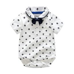 Trajes de muchacho preppy online-Nuevos juegos de ropa para niños de verano para niños pequeños para bebés, niñas, mameluco, remeras de camiseta, pantalones cortos de liga, estilo preppy, trajes de ropa