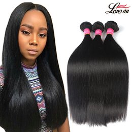 Wholesale Silky Human Hair Weave - 8A Brazilian Straight Virgin Hair 3 4 Bundles Unprocessed Brazilian virgin straight Human Hair Weave Peruvian Malaysian Silky Straight Hair