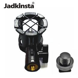 Großhandel 2in1 Kit Anti-Schock-Mikrofon Suspension Shock Mount Bleistift Clamp Condenser Halter Clip + 5/8 Hot Shoe Mount Adapter von Fabrikanten