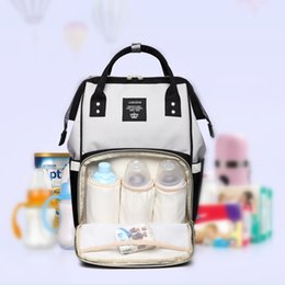 Wholesale plain diapers - Fashion Portable Baby Bag Diaper Backpack Large Capacity Multifunctional Multi-color Oxford Farbic 2018 New Hot Sale LJJN13