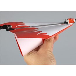 Wholesale Classic Car Years - Kid DIY Classic Education Flying Power Up Paper Plane Electric Airplane Conversion Model Kit Gifts Toys For Children Create