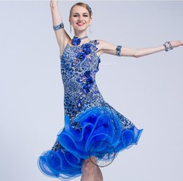 2020 vestidos de nylon personalizado Profissional de tecido personalizado vestido de dança vestido de dança latina menina ou lady franja tassel latina dança concorrência 17157 vestidos de nylon personalizado barato