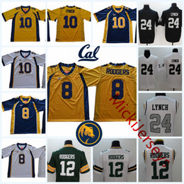 Wholesale bears red - NCAA #8 Aaron Rodgers Green Bay California Golden Bears College Football Stiched #10 Marshawn Lynch Cal bears Oakland Jersey S-3XL