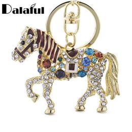 Cavallo portachiavi online-beijia portachiavi portachiavi portachiavi in cristallo multicolor con cavallo in metallo per auto K181