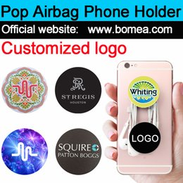 Wholesale Tablets Stands - Wholesale Pop Up Cellphone Stand Universal Hot Socket Mobile Phone Holder For Smarphone Tablet Iphone X With Retail Package Free custom logo
