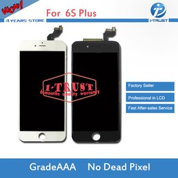 Wholesale Iphone 5pcs - 5PCS High Quality LCD Display Screen Touch Digitizer For iPhone 6S Plus LCD Good Replacement With Free DHL Shippment