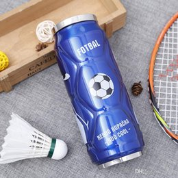 Wholesale Pictures Factory - 2018 New Pattern Vacuum Cup Fashion Stainless Steel Outdoors Portable Straw Cups With Football Picture Water Bottle Factory Direct 25ss X