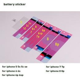 2019 batería de la caja xperia Etiqueta adhesiva de la batería Pegamento de la cinta adhesiva para la carcasa trasera Tira de la cinta posterior Etiqueta adhesiva Disipación del calor de la batería para el iphone 7 para el iphone 5 6s