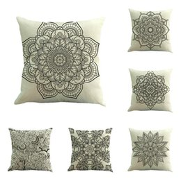 Wholesale Nordic Covers - Nordic amorous feelings flax fiber pillow case bohemian abstract geometric pattern pillowcase car sofa cushion cover
