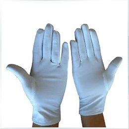 Deutschland Frauen weiß kurze anner handschuhe in der Öffentlichkeit günstige förderung mädchen handgelenk manner fahrerhandschuhe 10 paare / los Versorgung