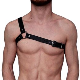 Wholesale Leather Belt Chest - New brand design Leather Harness belts Men Sexy Punk Leather Adjustable Body Chest Harness Body Bondage Belt leather Suspenders
