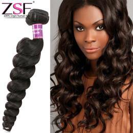 colore dei capelli migliore prezzo Sconti ZSF 8A Best Price Bundles non trattati dei capelli umani 1 PCS Estensioni dei capelli dell'onda allentata Colore naturale Capelli vergini brasiliani
