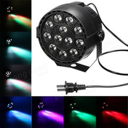 Wholesale Dmx512 Disco - 4Pcs 12*1W Led Flat slim Stage  Party Dj Light RGB LED disco With DMX512 Par Led 3w Equipments AC85-265V