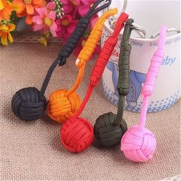 Wholesale Emergency Ring - Multi Colors Key Ring Parachute Cord Braided Self Defense Core Keychain For Outdoor Emergency Keys Buckle Durable 2 2sz B