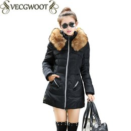 Wholesale Womens Cotton Parka Coat - 2017 New Long Parkas Female Women Winter Coat Thickening Cotton Winter Jacket Womens Outwear Solid Color with hats Coat JN-049