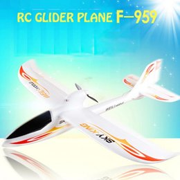 Wholesale Electric Airplane Epo - New F959 2.4GHZ 3CH Remote Control RC Airplane Sky King Aircraft-RTF EPO FPV RC Airplane