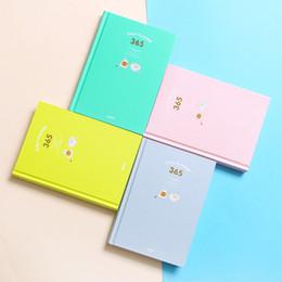 Koreanische notizbuchjournal online-Koreanisch Kawaii niedlich A5 365 Planer Notizbücher Täglich Wöchentlich Monatlich Jährlich Planer Agenda Zeitplan Tag Plan Notebook Journal Molkerei