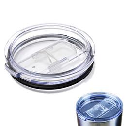 Interruttori a scorrimento online-Tazze di plastica trasparente di copertura interruttore del coperchio Drinkware coperchio scorrevole per 20 30 oz Auto boccali Splash Spill Proof