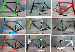Wholesale Carbon Clamp - 26 colors Colnago C60 Carbon Road Frame full carbon fiber Road Bike Frame+ Seatpost+ Fork+ Clamp+ Headset SIZE XS S M L XL