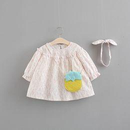 nuove ragazze alla moda dei vestiti Sconti 2018 New Rushed Lace Striped Cute Baby Dress completo Vestido Infantil Baby Allentato Dress 0-3 anni Ragazza Fashion Princess