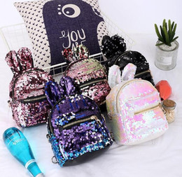 zaino scolastico in pelle rosa Sconti Ins moda coreano nuovi zaini per bambini sequin Sacchetti per bambini mini Sacchetti di scuola per bambini Sacchetti per ragazze Borsa da weekend in pelle borsa rosa