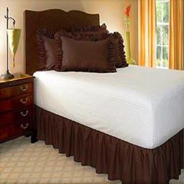 grembiuli pieni Sconti Twin Full Queen King Size Colore puro senza superficie del letto Elastic Band Bed Gonna 38cm altezza letto copriletto Grembiule