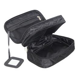 camada cosméticos sacos Desconto Mihawk Double Layer Cosmetic Bag Com Um Espelho Organizador de Viagem Funcional Maquiagem Bolsa de Higiene Pessoal Escova Vaidade Caso Acessórios Para As Mulheres