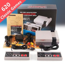 Wholesale Retro Tv - Hot Game Consoles NES 620 Classic Games Mini TV Video Handheld Console Retro Player With Retail Box for Super NES SNES Sega HDMI Xbox PS4