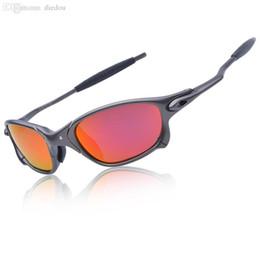 2019 ciclo óculos preto amarelo 2018 frete grátis Original Men Romeo Ciclismo Óculos Polarizada Aolly Juliet X óculos de Metal Equitação Óculos de Marca Designer De Marca Oculos CP005-3
