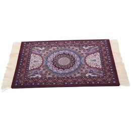 Wholesale persian rugs carpets - Magical Persian Mouse Pad Rug Bohemia Carpet Purple Crown Mousepad Table Cup Mat